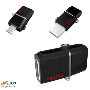 فلش مموریSanDisk مدلUltra DualDrive3.0ظرفیت 64 گیگابایت