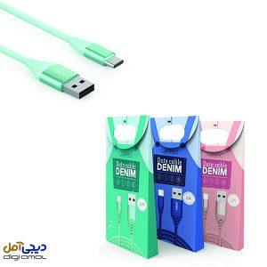 کابل تبدیل USB به USB-C جووی مدل TC12 به طول 1 متر