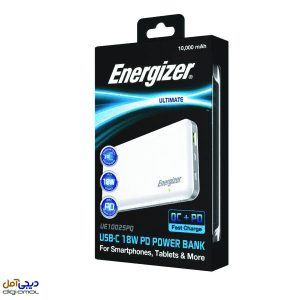 پاوربانک انرجایزر مدل ENERGIZER POWER BANK UE10025 PQ