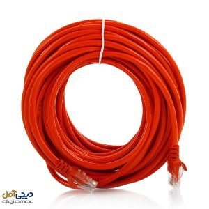 کابل شبکهCAT5Eاستیکر به طول10متر + قرمز